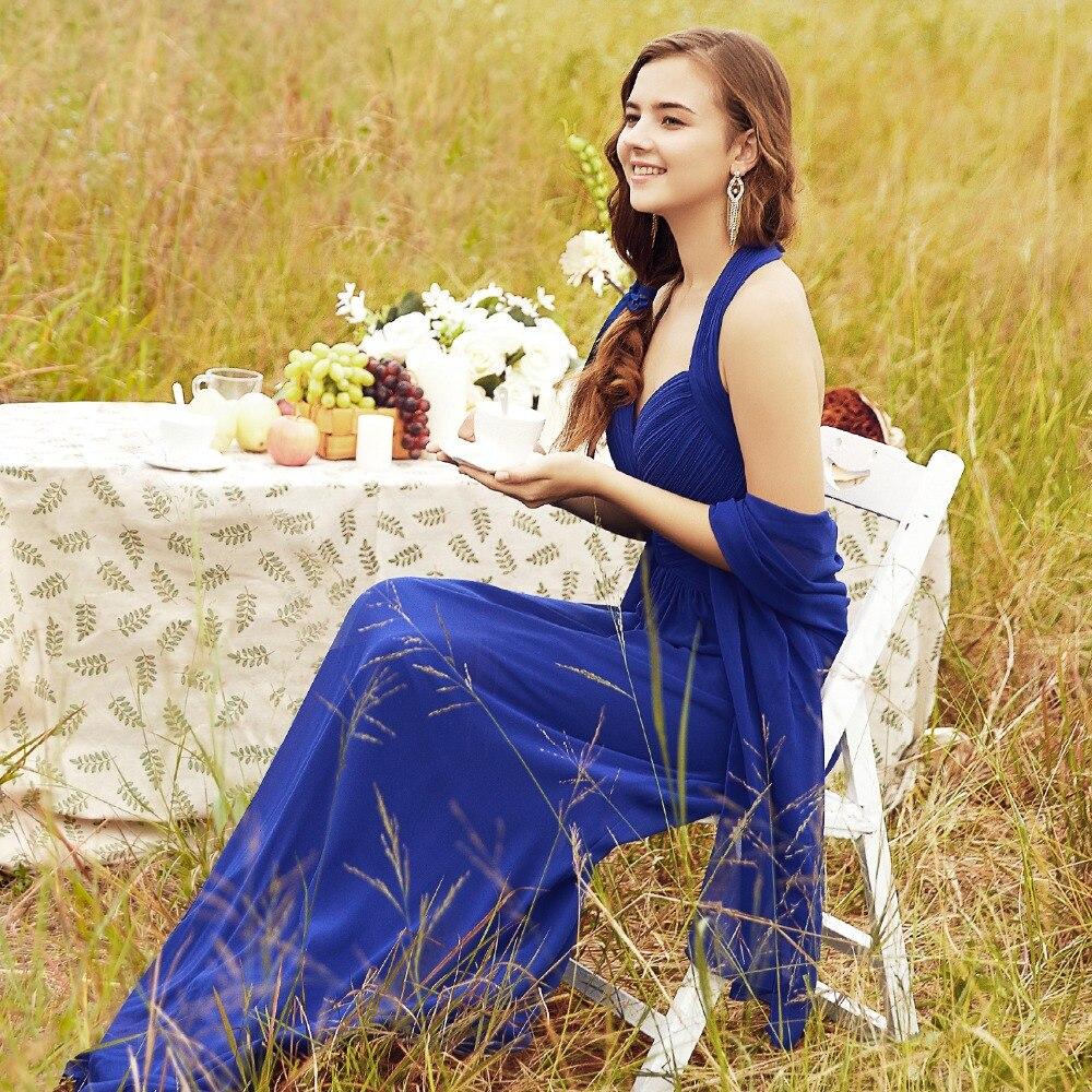 Bridesmaid-Dresses Ever Pretty Chiffon Wedding-Party Royal-Blue Burgundy Long A-Line