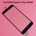 Высокое Качество Испытания Рабочих Черный Сенсорный Экран Digitizer Для ZOPO Скорость 7 Плюс ZP952 Мобильный Датчик Стекло Замена Панели