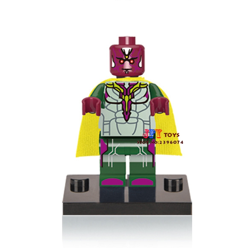 50pcs superhero 061 Vision building blocks bricks friends for girl boy kids children toys brinquedos menina