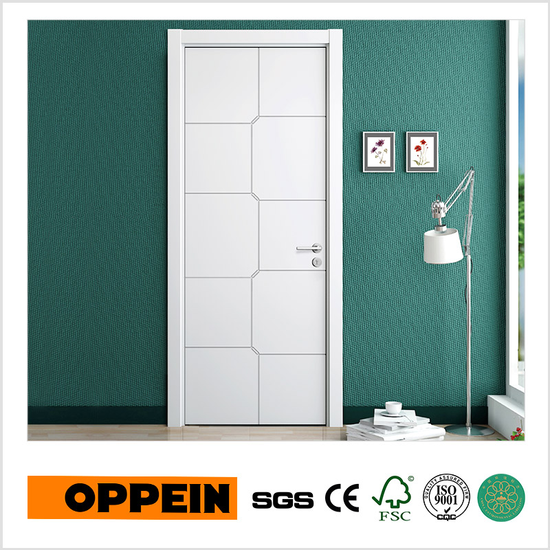 oppein moderno interior puerta de madera blanca de alta calidad ydgd