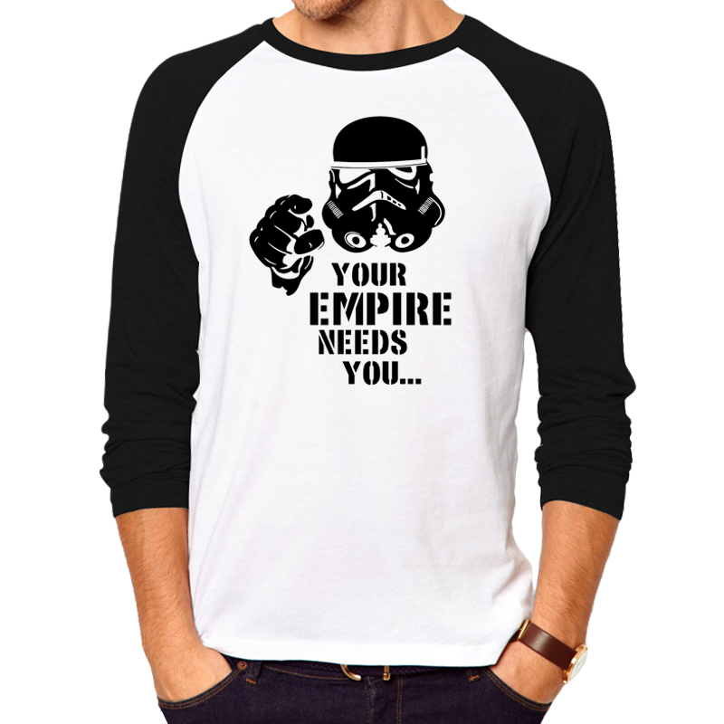 StarWars T-Shirt Man Star Wars T Shirt Men Tops Imperial Stormtrooper Men long sleeve brand clothing fitness tees tops