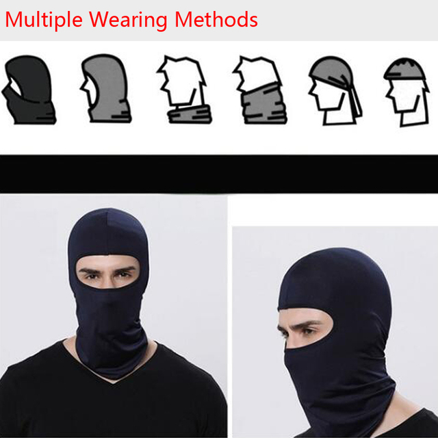 Motorcycle Face Mask Cycling Ski Neck Balaclava Full Face Hat Mask Cover Winter Warm Outdoor Windproof Breathable Mask 3