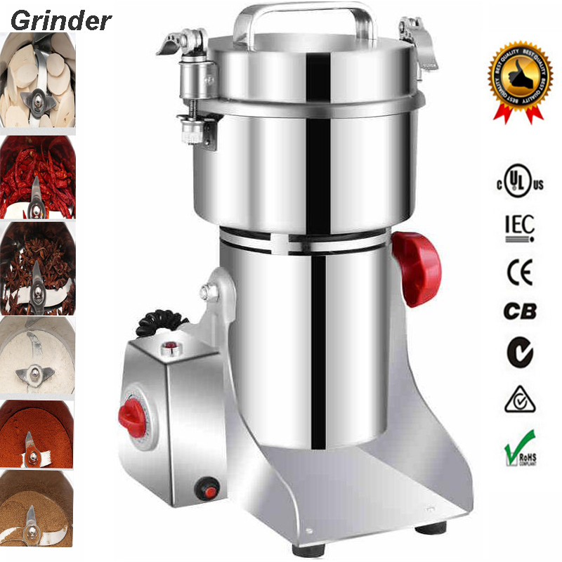 700g Electric Stainless Steel Coffee Dry Food Grinder Mill Grinding Machine Grain crusher Food pepper Herbal mill цена