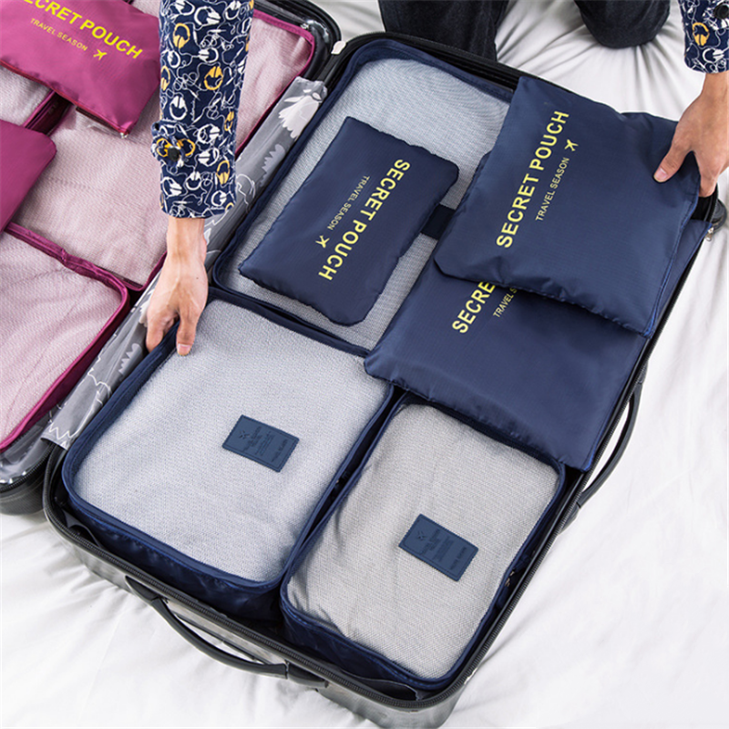 high quality 6pcs/set luggage Travel organizer bag large for Men women Multifunction cosmetic organizer make up bags