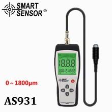 AS931 Film Coating Thickness Gauge Measuring Range 0 1800um Iron based Digital Thickness Meter Car detector store 15 groups
