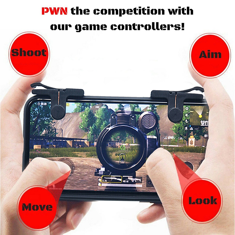Image 4 - 1 Pair Phone Mobile Gaming Handle for L1R1 Shooter Controller PUBG Game-in Gamepads from Consumer Electronics