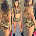 Sexy 2016 Women's  Leopard Print  Bra Underwear Two-piece Suit Temptation Push Up  Bra Women Set Femme