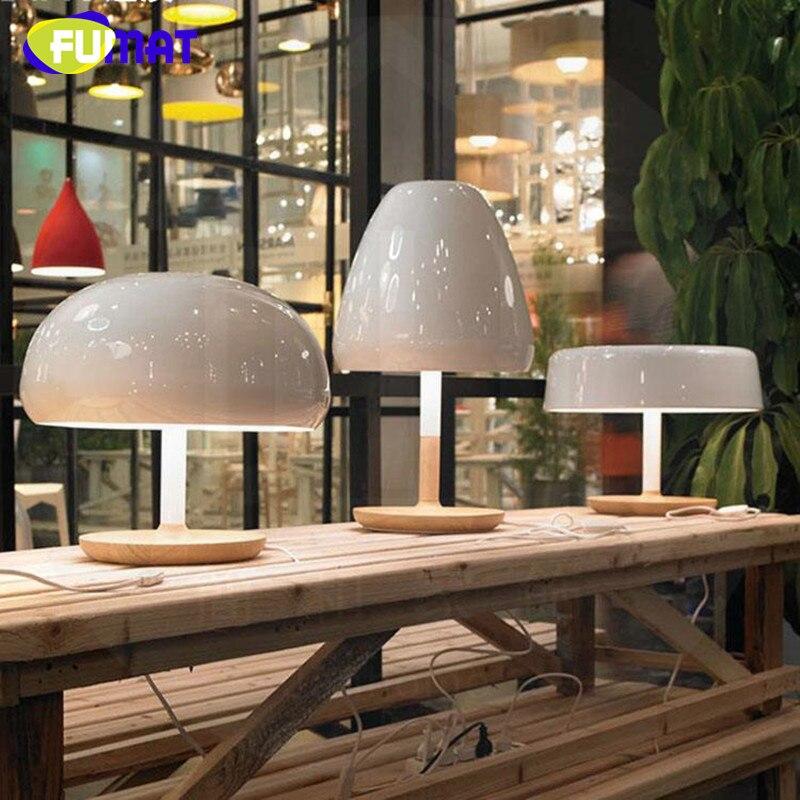 Фумат Nordic дизайнер Lampara Меса Мода древесины База Настольные лампы для Гостиная современный простой гриб настольная лампа свет