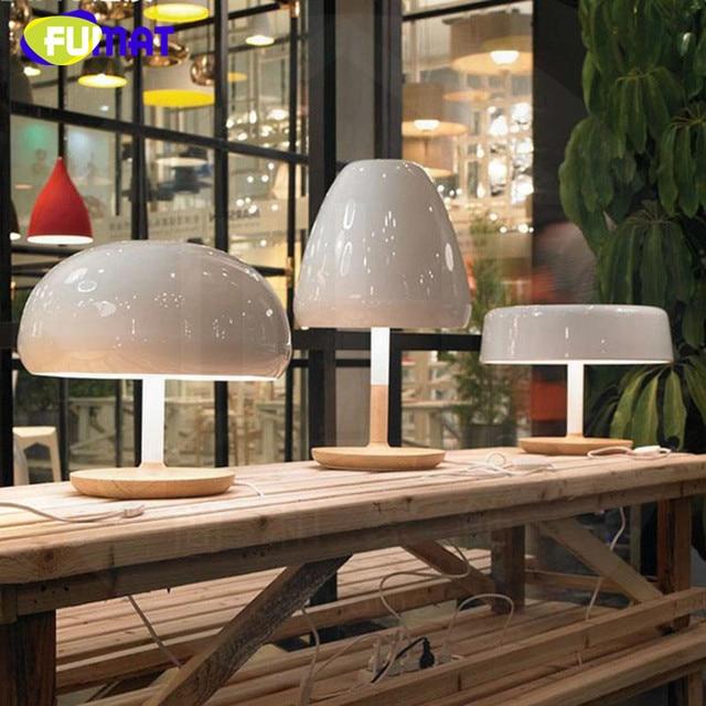 US $157.25 15% di SCONTO|Base In Legno di Modo Mesa Lampara FUMAT Designer  Nordici Lampade Da Tavolo Per Soggiorno Moderno Semplice Lampada Da Tavolo  ...