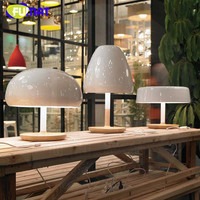 FUMAT Nordic Designer Lampara Mesa Fashion Wood Base Table Lamps For Living Room Modern Simple Mushroom Table Lamp Light