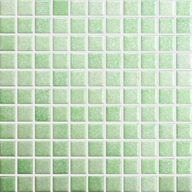 Buy green square ceramic mosaic tile for Balcony wall tiles