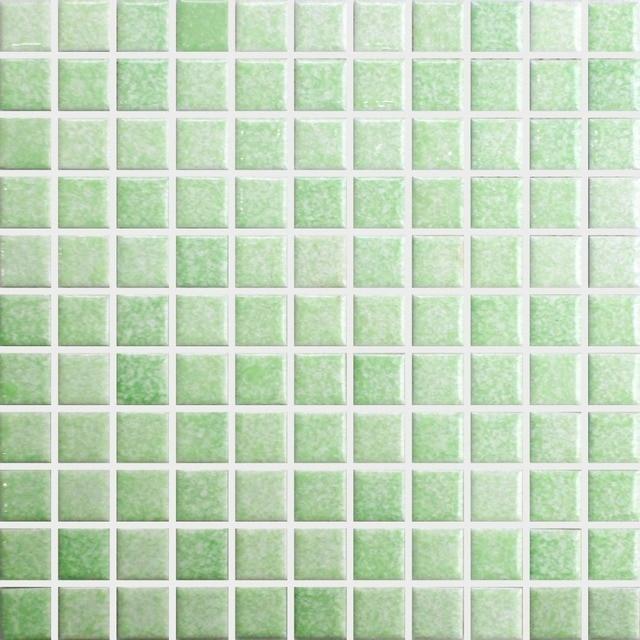 Verde piazza ceramica mattonelle di mosaico backsplash cucina ...