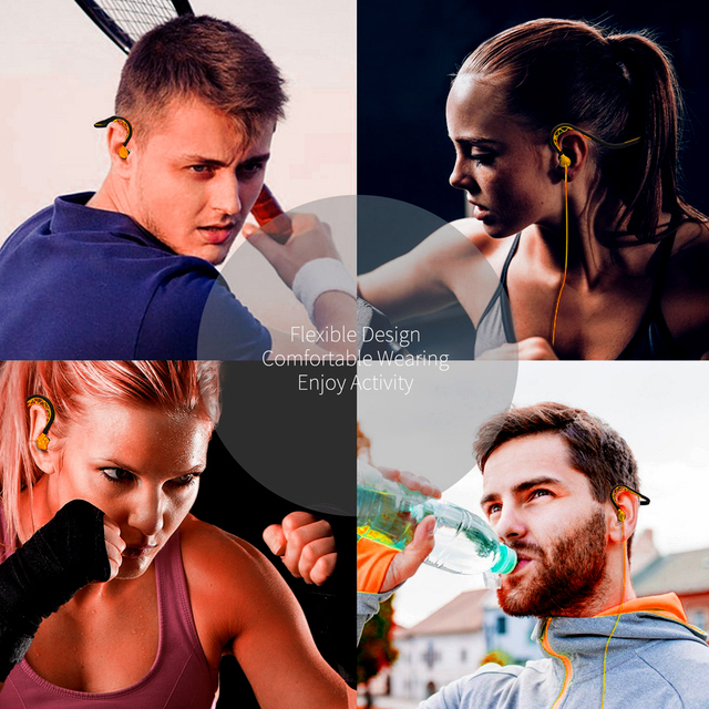 REMAX Sport Gym Wired Earphones Running in ear Stereo Headphones sweat-proof earbuds high Bass speaker for iphone/samsung/LG
