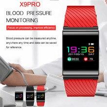 X9PRO Цвет Экран Smart Band Приборы для измерения артериального давления сердечного ритма шагомер трекер IP67 OLED анти-потерянный браслет Фитнес трекер