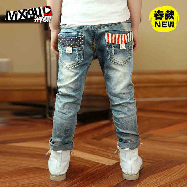 Free shipping! High quality 2017 spring and autumn New fashion kids baby/boys Casual jeans children pants