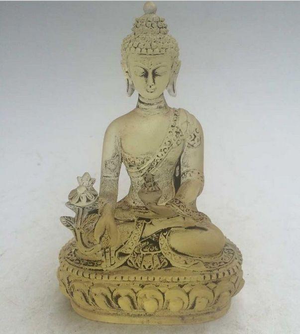 Chines exquisite Crystal Glass Liuli Mañjuśrī Buddha statue