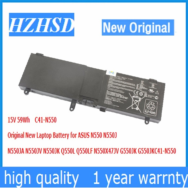 15 В 59wh c41-n550 Оригинальный Новый ноутбук Батарея для ASUS n550 n550j n550ja n550jv n550jk q550l q550lf n550x47jv g550jk g550jk