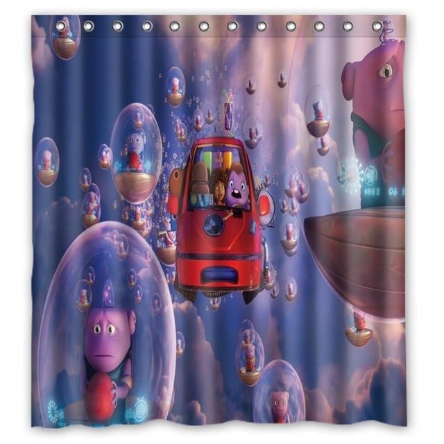 66 X72 Inch Crazy Alien Shower Curtain Waterproof Fabric For Bathroom