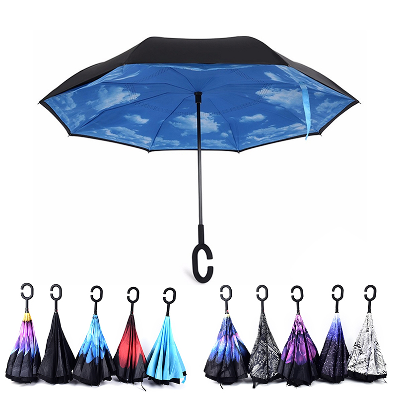 Dropship-Windproof-Reverse-Folding-Double-Layer-Inverted-Chuva-Umbrella-Self-Stand-Rain-Protection-C-Hook-Hands (2)