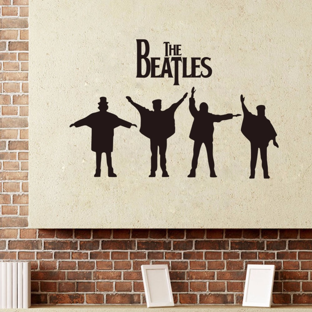 compare prices on beatles wall murals online shopping buy low the beatles art quote wall decal decor room stickers vinyl removable home mural 45x93cm china
