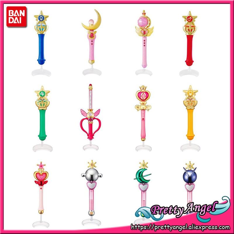 PrettyAngel   Original Bandai 20th Anniversary Gashapon Pretty Guardian Sailor Moon Crystal Wand Charm Henshin Rod & Sticksailor plutosailor moonsailor moon bandai -