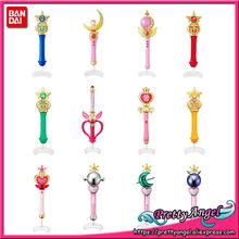 PrettyAngel-oryginalny Bandai 20th rocznica Gashapon dość opiekuna Sailor Moon Crystal różdżka urok Henshin pręt i trzymać tanie tanio Modelu Unisex Film i telewizja Wyroby gotowe Urządzeń peryferyjnych Japonia Żołnierz gotowy produkt 12 cm od 14 lat 12-15 lat Dorośli