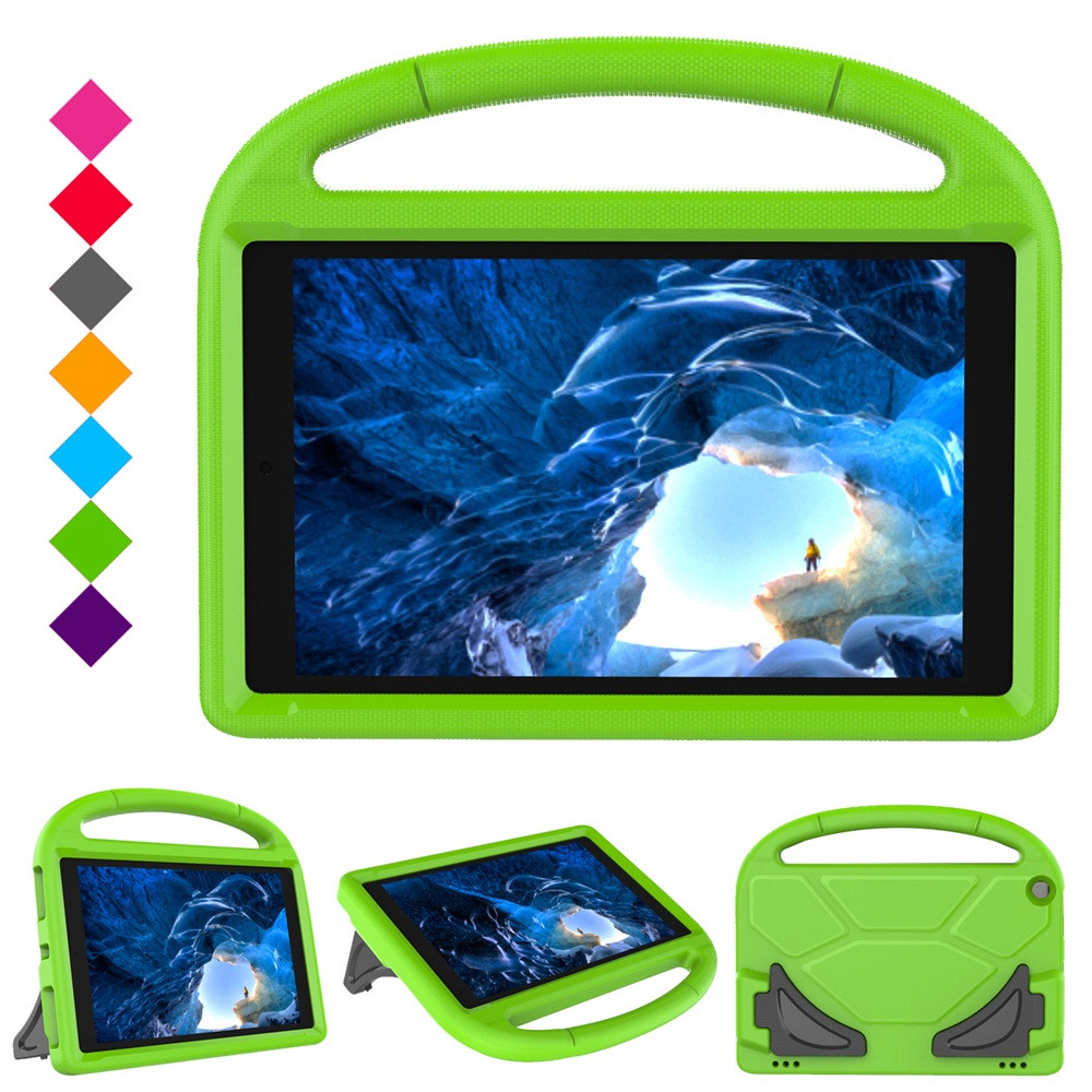 Cases Tablet Green Kids Case Safe EVA Foam Cover Skin For Amazon Kindle Fire HD 10 2015/2017 #5%