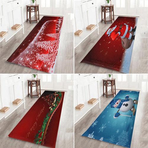 Home Decor Merry Christmas Area Rug Carpet Bathroom Floor Mat Dining Room  HE