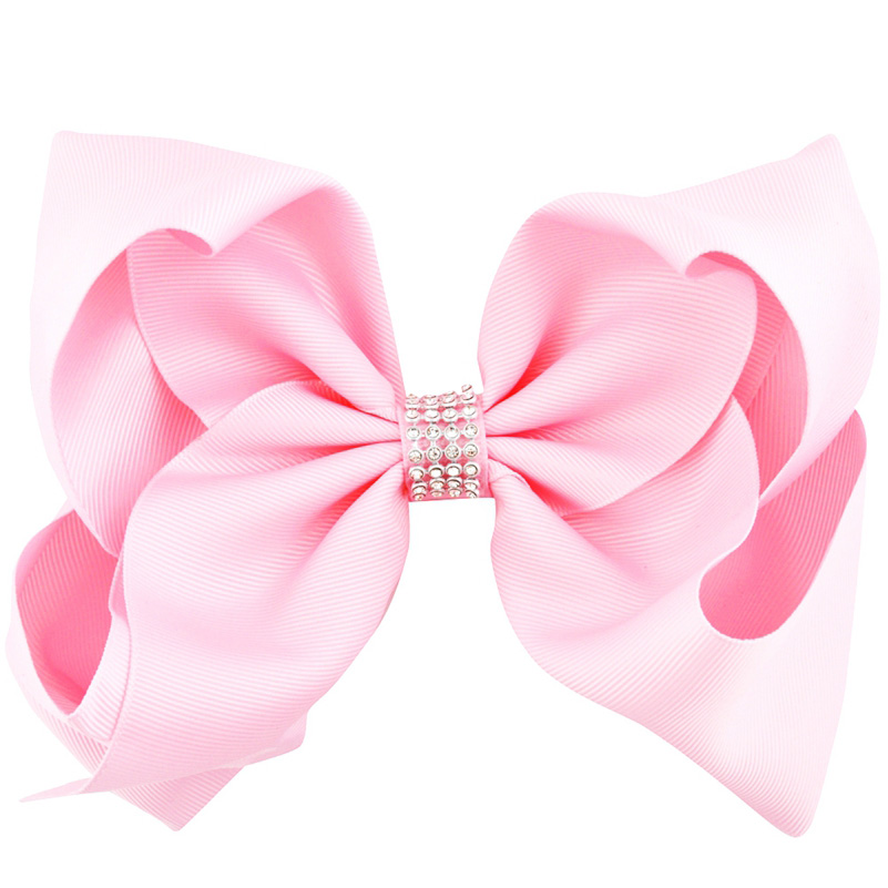 Image 3 - 8 inch 20pcs/lot Big Large Hair Bows Rhinestone Alligator Clips Girls Hair Accessories Childrens Women Hairpins Grosgrain Ribbon-in Hair Accessories from Mother & Kids