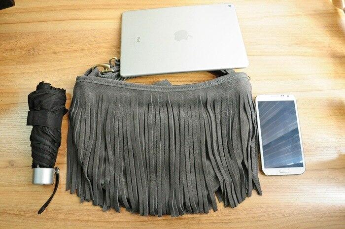 genuine leather fringe tassel bags women shoulder crossbody bag women's handbags bag (23)