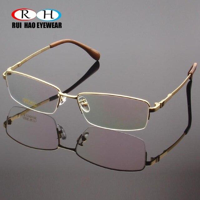 RUI HAO EYEWEAR Eyeglasses Frame Titanium Alloy Glasses Frame Men High elasticity Eyeglasses Frame Memory Spectacle 33018