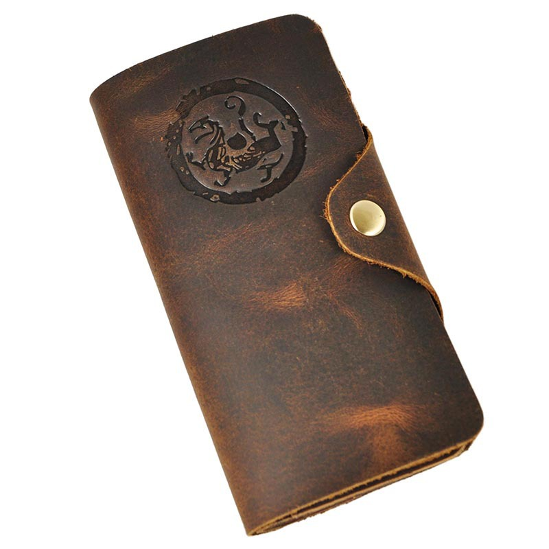 2016 Retro Men Genuine Leather Wallet High Quality Men's Long Brown Wallet Purses Card Holder Male Clutch Bags 2016 famous brand new men business brown black clutch wallets bags male real leather high capacity long wallet purses handy bags