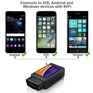 Image 3 - Universele OBD2 WIFI ELM327 V 1.5 Scanner voor Android/IOS Auto OBDII Scan Tool OBD 2 ODB II ELM327 v1.5 WIFI ODB2 Auto Diagnostische