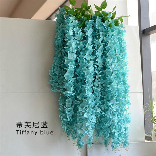 DIY Wedding Flowers Accessories Artificial Wisteria Vintage Decorations Flower Vines Silk 164cm