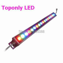 IP65 outdoor 500mm linear bar Edison led wall washer lamp DC24v high power led landscape lighting R/G/B/W/Y/RGB colors 30pcs/lot