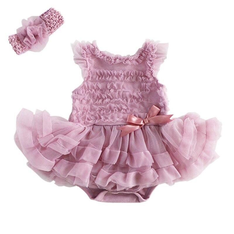 2Pcs/Set Newborn Baby Girls Sleeveless Ruffles Romper Jumpsuit Clothes Outfits 2018 Summer Baby Rompers Roupas Bebes Girls Dress