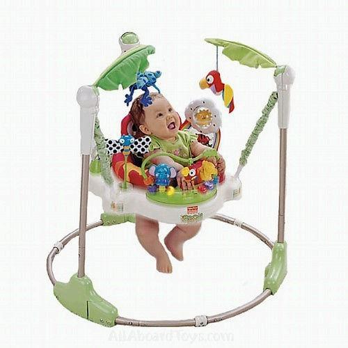 free shipp brand new rainforest jungle jumperoo baby jumper activity