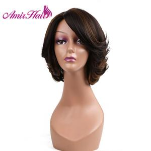 Image 1 - Synthetic Hair Wig Bob Wigs Straight Hair Short Wig For Women Natural Black Brown Blonde Party Daily Cosplay Wigs Amir