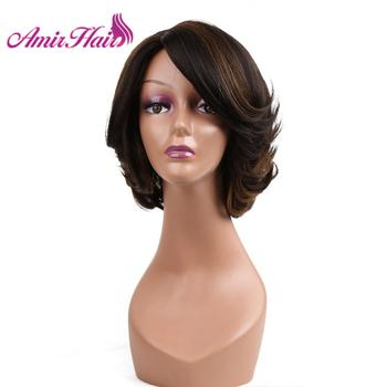 Synthetic Hair Wig Bob Wigs Straight Short For Women Natural Black Brown Blonde Party Daily Cosplay Amir - discount item  24% OFF Synthetic Hair