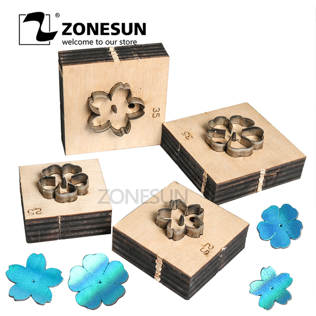 ZONESUN flower leather cutting die papercraft paper art leather decoration tool for die cutting machine DIY handicraft cutter