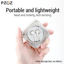 PZOZ для apple, EarPods, коробка для хранения наушников, наушники apple, проводная Крышка для наушников, Портативная сумка для гарнитуры, чехол для apple earpods