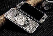 2 pcs Frente + Voltar Ouro Luxo Pintura 3D Cobertura Completa Cor de Vidro Temperado case para iphone 5 5s 6 6 s plus filme protetor de tela