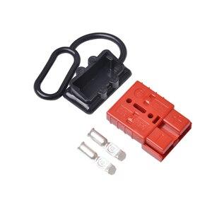 Image 3 - O cabo da bateria de 50a 600 v conecta rapidamente o jogo 12 24 v do conector do guincho da recuperação da desconexão da tomada do chicote de fios do fio