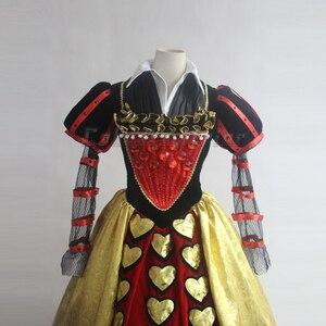 Image 2 - Film Alice im Wunderland cosplay Rote Königin der Herzen Kostüm Phantasie Kleid für erwachsene Cosplay Nach Maß