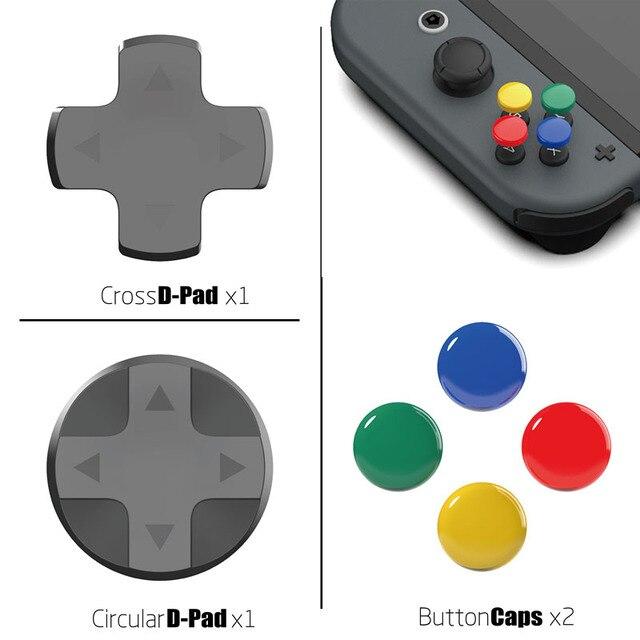 Nintendo anahtarı özel DIY başparmak kavrama seti Joystick kap Analog sopa kapaklar d pad düğmesi nintendo anahtarı NS joycon denetleyici