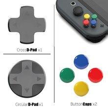 Przełącznik do nintendo niestandardowe DIY uchwyt na kciuk zestaw nasadka na dżojstik gałka analogowa czapki D Pad przycisk dla nintendo Switch NS joy con kontroler