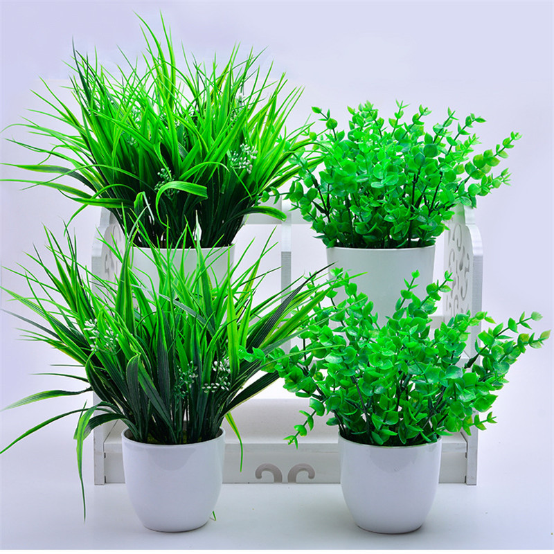 Best Indoor Plants For Small Pots: Artificial Plants Potted Indoor Simulation Green Plants