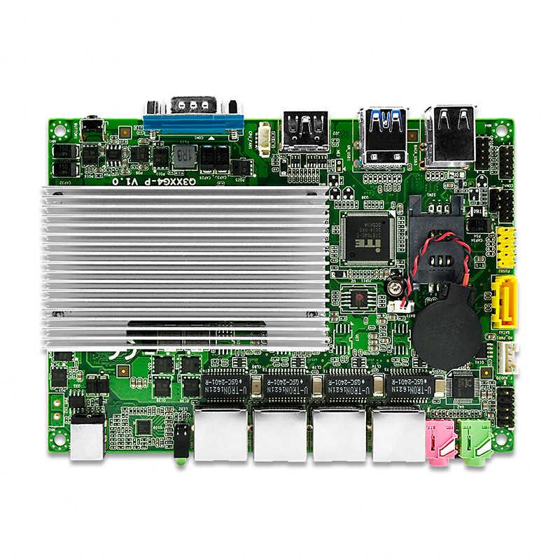 Qotom Мини ПК Core i3 i5 i7 с 4 гигабитными Ethernet NIC Pfsense AES-NI Fiewwall маршрутизатор машина микро промышленный компьютер Q300G4