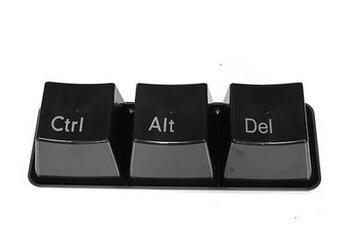Игрушек! Горячая Распродажа креативная пластиковая чашка с клавиатурой в форме модной кофейной чашки подарок на день рождения 3 шт набор - Цвет: Черный