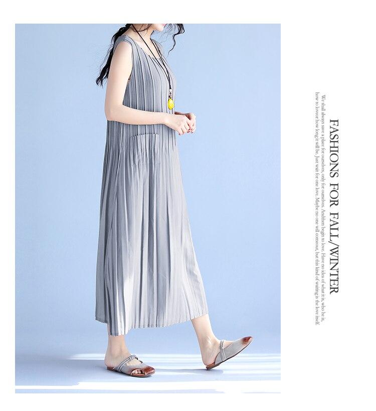 BelineRosa Women's Summer Dresses 17 Pure Color Casual Women Draped Dress Sleeveless Plus Size Dresses for Women QY00001 19